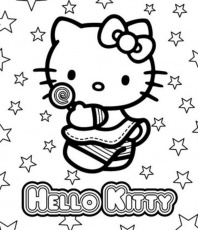 Hello Kitty - free coloring pages | Coloring Pages