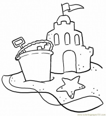 beach scene coloring pages