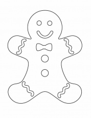 Ginger Bread Man Coloring Pages | Gingerbread Man