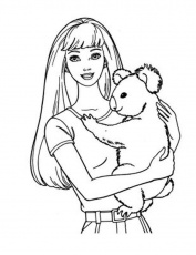 Free coloring pages – barbie and Kuala coloring pages for kids