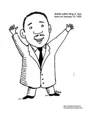 MLK Coloring Page | January Classroom Ideas