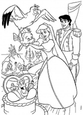ariel and friends Colouring Pages