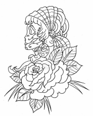 Pin by Deborah Henderson on skulls coloring pages