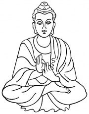 buddha coloring pages