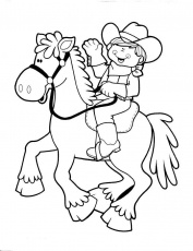 coloring page | Kids Party Western