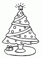 Christmas Tree Coloring Sheet | Free coloring pages