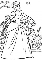 Cinderella Singing In Gown Disney Coloring Pages - Princess
