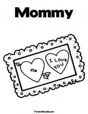 mommy i love you Colouring Pages