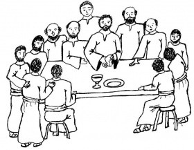 Last Supper coloring pages | The Last Supper
