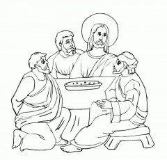 Last Supper Coloring Page - HD Printable Coloring Pages