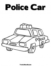 police car picture Colouring Pages (page 2)