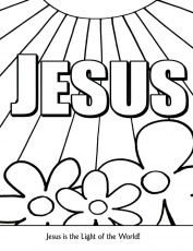 Jesus Light of the World Coloring Page | New Hope Material - Children…