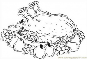Cute turkey coloring pages clipart panda free clipart for Cooked turkey coloring pages