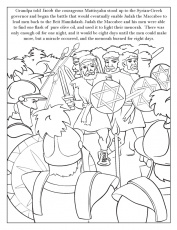 hanukkah story and coloring page