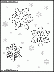 snowflakes to color
