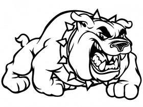 bulldog coloring page
