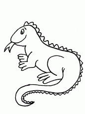 Iguana Coloring Pages For Kids - Free Printable Coloring Pages