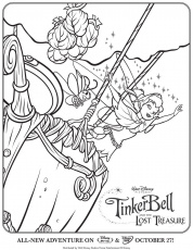 Tinkerbell And The Lost Treasure Coloring Pages To Print - Coloring