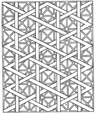 Free printable coloring pages for adults! Geometric patterns ...