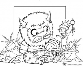 Where The Wild Things Are Coloring Page  Coloring Home