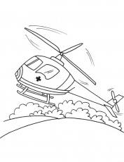Air ambulance coloring page