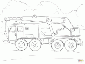Crane Truck coloring page | Free Printable Coloring Pages