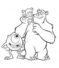 monsters inc coloring pages