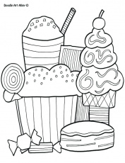 Thrilling Chibi Coloring Pages Detailed Dessert Girl Coloring ...
