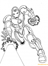 Iron Man Fight Scene Coloring Page - Free Coloring Pages Online