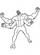 Ben 10 Four Arms Coloring Pages for Boys | Educative Printable | Coloring  pages, Mickey coloring pages, Coloring pages for boys
