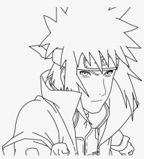 Transparent Minato Drawing Hokage - Fourth Hokage Line Drawing ...