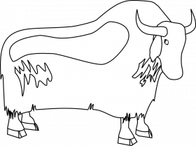 Free vector graphic: Yak, Buffalo, Bull, Outline, Horns - Free ...