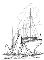 free printable titanic coloring pages for kids - coloring home - Titanic Coloring Pages Printable