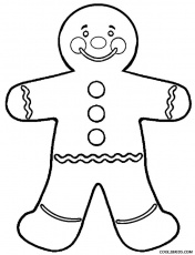 Coloring Pages Gingerbread Man - Coloring Page