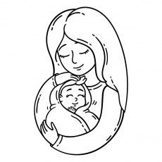 Pregnancy Coloring Pages: Free Pregnancy Printables for Mom-to-Be (Great  for Baby Showers!) | Printables | 30Seconds Mom