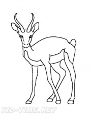 Gazelle Coloring Book Page | Free Coloring Book Pages Printables