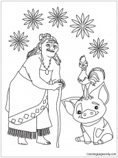 Pua Pig From Moana Coloring Pages ...coloringpagesonly.com