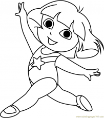 Dora at Gym Coloring Page - Free Dora ...coloringpages101.com