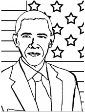 Fresh Barack Obama Coloring Pages 83 For Line Drawings With Barack ...