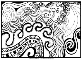 Abstract Coloring Pages for Adults {Printable} - Dimensions of Wonder