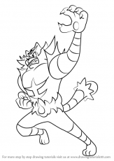 Learn How to Draw Incineroar from Pokemon Sun and Moon (Pokémon Sun and  Moon) Step by Step : Drawing Tutorial… | Pokemon coloring pages, Pokemon  sun, Pokemon sketch