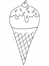 Boy Eating Ice Cream Coloring Page - Coloring Pages For All Ages