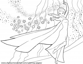 Disney Frozen Coloring Page