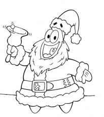 Spongebob For Christmas - Coloring Pages for Kids and for Adults