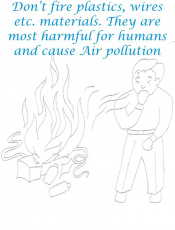 Don't Fire it makes Air Pollution Coloring Page