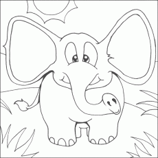 elephant and piggie coloring pages - Printable Kids Colouring Pages