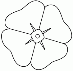 Poppy - Coloring Page (Remembrance Day)