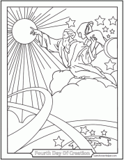 Creation Coloring Pages ❤+❤ God Created Heaven And Earth