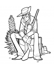 I inked a sniper for myself to color, but I figured I'd share the lineart  for you guys to color too. : tf2