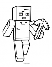 Minecraft Coloring Page - Free Printable - AllFreePrintable.com